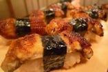 水喜名物!柔かく濃厚な鰻と、こだわりのシャリが絶品のうなぎ寿司!
