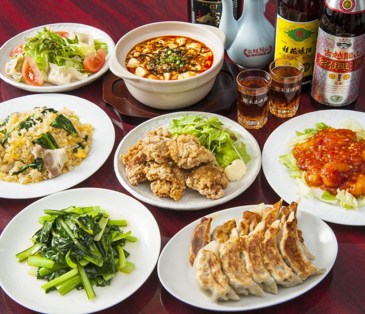 中華宴会コースは飲み放題付き!