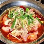 中華風ちり大山鶏鍋