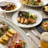 3つの定番コースは、食べごたえも兼ね備えた四季折々のイタリアン!