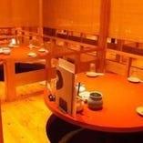 4名様~最大16名様の個室席。人気な個室のご予約はお早めに。