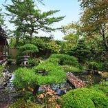 東山を借景とした青龍庭園を 眺めながら旬の京料理と湯豆腐を
