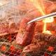 炭火で焼き上げるお肉はジューシーで美味しいんです。