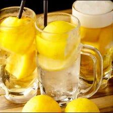 爽快!ももたろう丸ごとレモンサワー