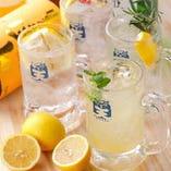 飲み放題内容 当店人気の7種のレモンサワーも飲み放題OK♪