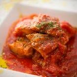 コース:鶏もも肉のトマト煮込み風カッチャトーラ