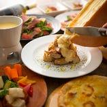 ■ラクレットチーズ■ オーブンで温めたチーズを食材にとろ~り