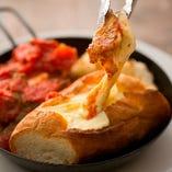 チキンとチーズのコラボレーション