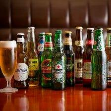 いろいろな国のビールを飲み比べ!