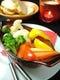 温野菜のサラダ バーニャカウダーソース