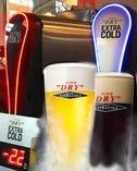 氷点下-2.2度のスーパードライほか生ビール充実