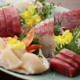 お刺身 旬の新鮮な魚介