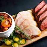 お肉3種盛り、2種盛り、各種ご用意しています♪