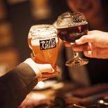 【お酒は19時まで!時短対応コース 飲み放題LO75分】MUHでサクッと飲んで楽しい♪クラフトビール5種飲放付