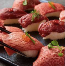 【はじめての方にも◎】3時間飲み放題付「肉寿司含む15品食べ放題コース」【3280円税込】