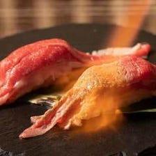 【大満足◎】3時間飲み放題付「ロング炙り肉寿司&ステーキ含む27品食べ放題」【3580円税込】
