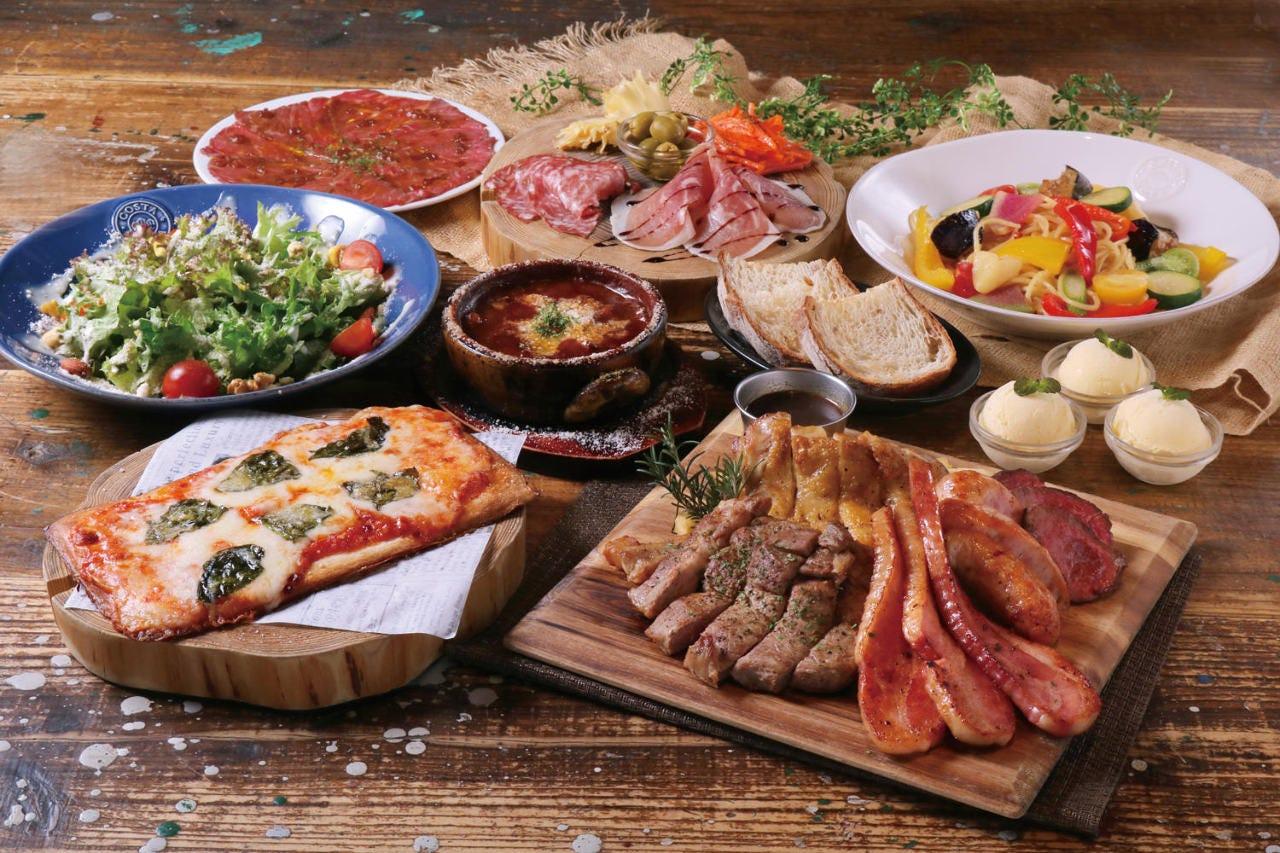 【飲み放題付】お肉5種盛りコース お1人様¥5,000円 今日は豪華に!!
