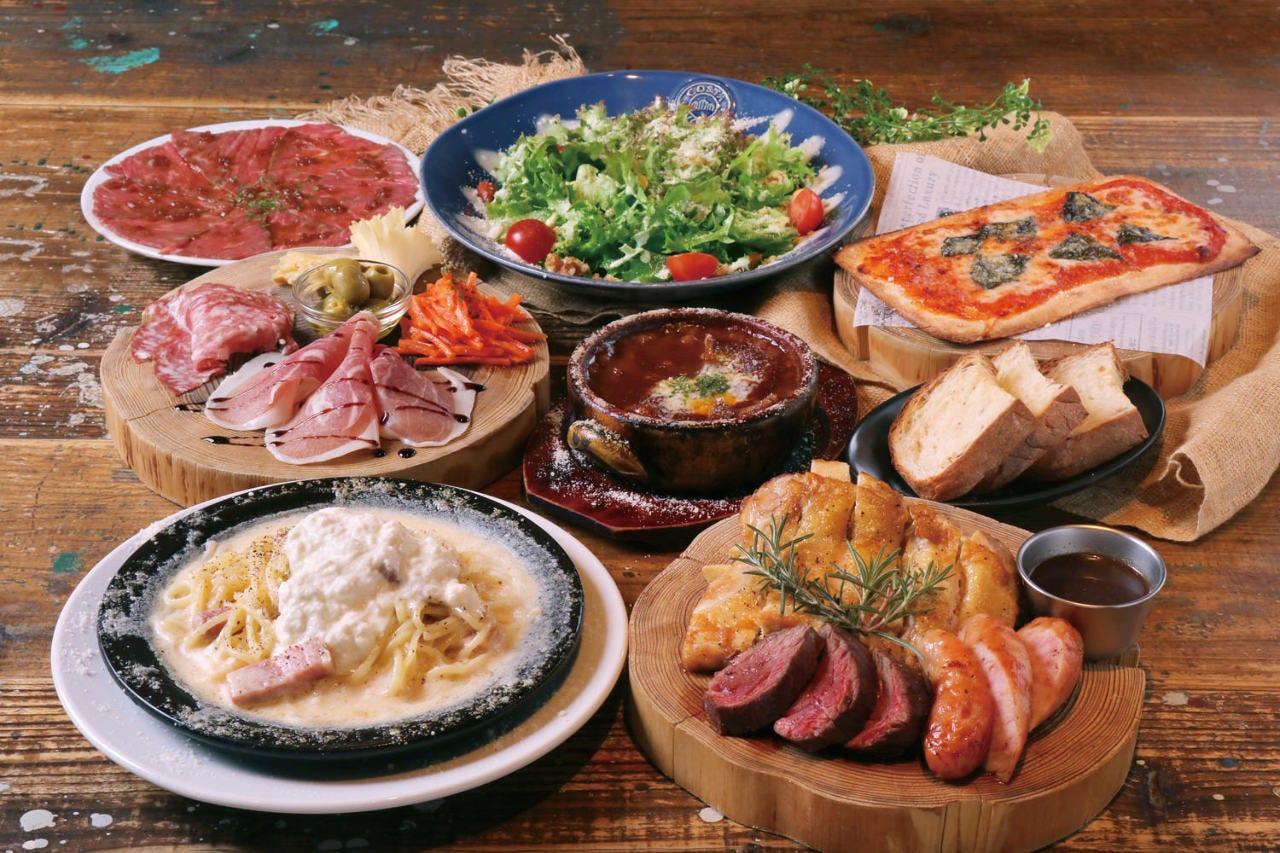 【飲み放題付】お肉3種盛りコース お1人様¥4,500円
