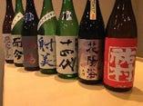 日本酒のラインナップには自信あります