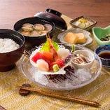 ランチ 一汁三菜(お刺身盛合わせ) 1,188円