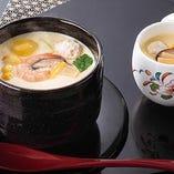 自家製ジャンボ茶わんむし 528円 / 自家製茶わんむし 308円