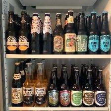 厳選クラフトビールが常時10種類以上
