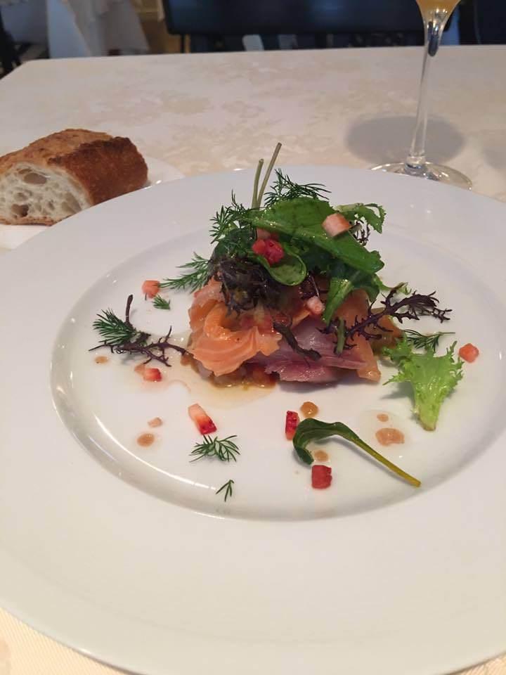前菜一例 : ラタトュユと鮮魚のカルパッチョ