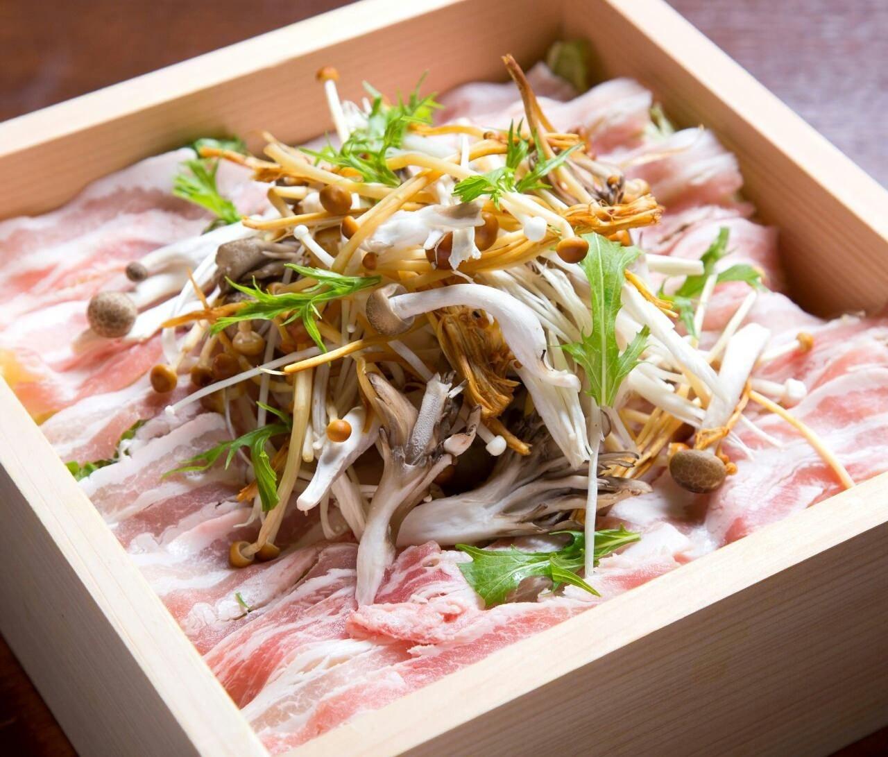 『京都ぽーくと季節野菜』せいろ蒸し
