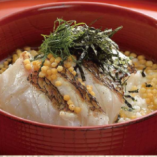 最後のシメにあっさりとした「炙り鯛茶漬け」いかがですか。