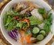 ブンチャゾー~あげ春巻きののった細い米麺のぶっかけ風。