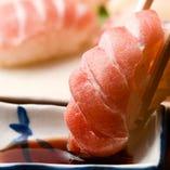 新鮮な魚のお寿司!!