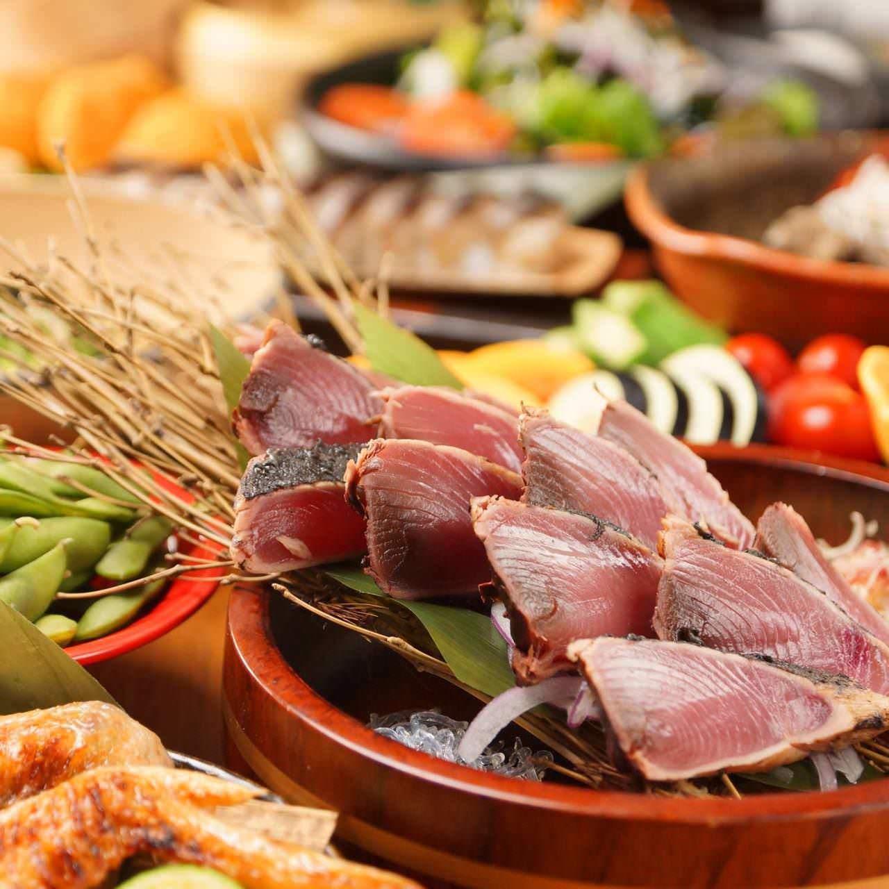 【当日OK】【3Hプレミアム飲み放題付き!】【料理9品】前菜やお肉が選べる!よりどりみどりコース4500円