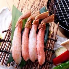 ◆ズワイガニなど豪華な海鮮の数々