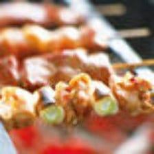 大山鶏の串焼き