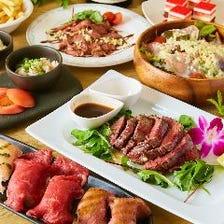 ●ぐるなび限定●『肉寿司食べ放題コース』全7品3時間飲み放題付4400円⇒3300円
