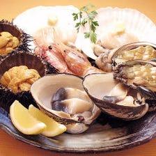 北海道産の旬の食材を楽しめます