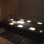 隠れ家完全個室。8名様の個室は接待・デート・少人数でのお食事に!