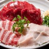 熊本県産【名代 肥後馬刺し】は極上の味!
