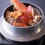 海鮮盛り盛り釜飯