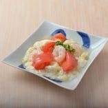 13.海老と熊本トマトの白い玉子炒め