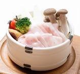 阿蘇極楽蒸し風 りんどうポークの温野菜セイロ