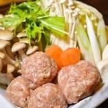 鶏つくね鍋(醤油・鶏がら)