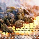 炭火で焼き上げた自慢の炭火焼も是非食べていただきたい一品