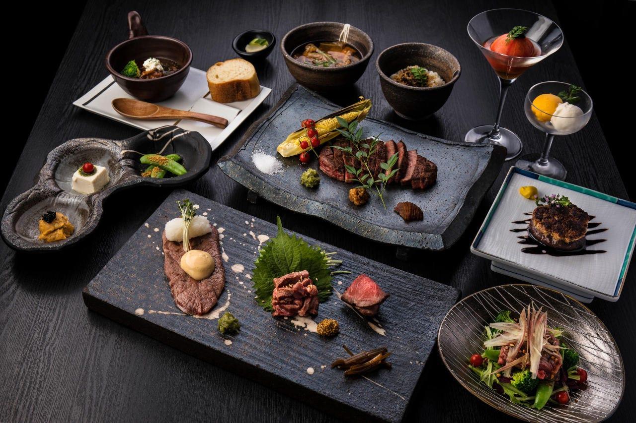 神戸ビーフを味わう飲み放題付コース