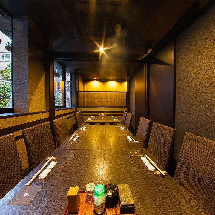 テーブル席・完全個室(壁・扉あり)・7名様~12名様