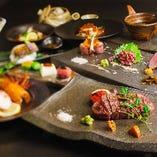 前菜、サラダ、神戸ビーフのメイン、〆の御飯とデザートまで、当店の美味を余すことなく堪能できるコース