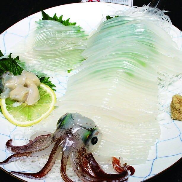 函館/活イカ/新鮮な魚介!
