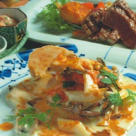 ◆記念日におすすめ◆アワビ&牛ヒレステーキ… 【店長おすすめコース】 ⇒6000円(税別)