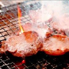 肉厚のこだわり牛タンを炭火焼で