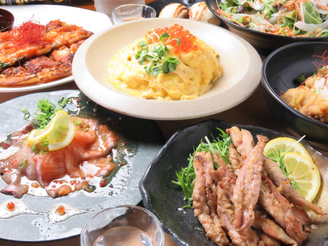 【定番人気】人気沸騰中の牛ハラミステーキをメインにesの人気料理を集めた飲み放題付き3500円コース